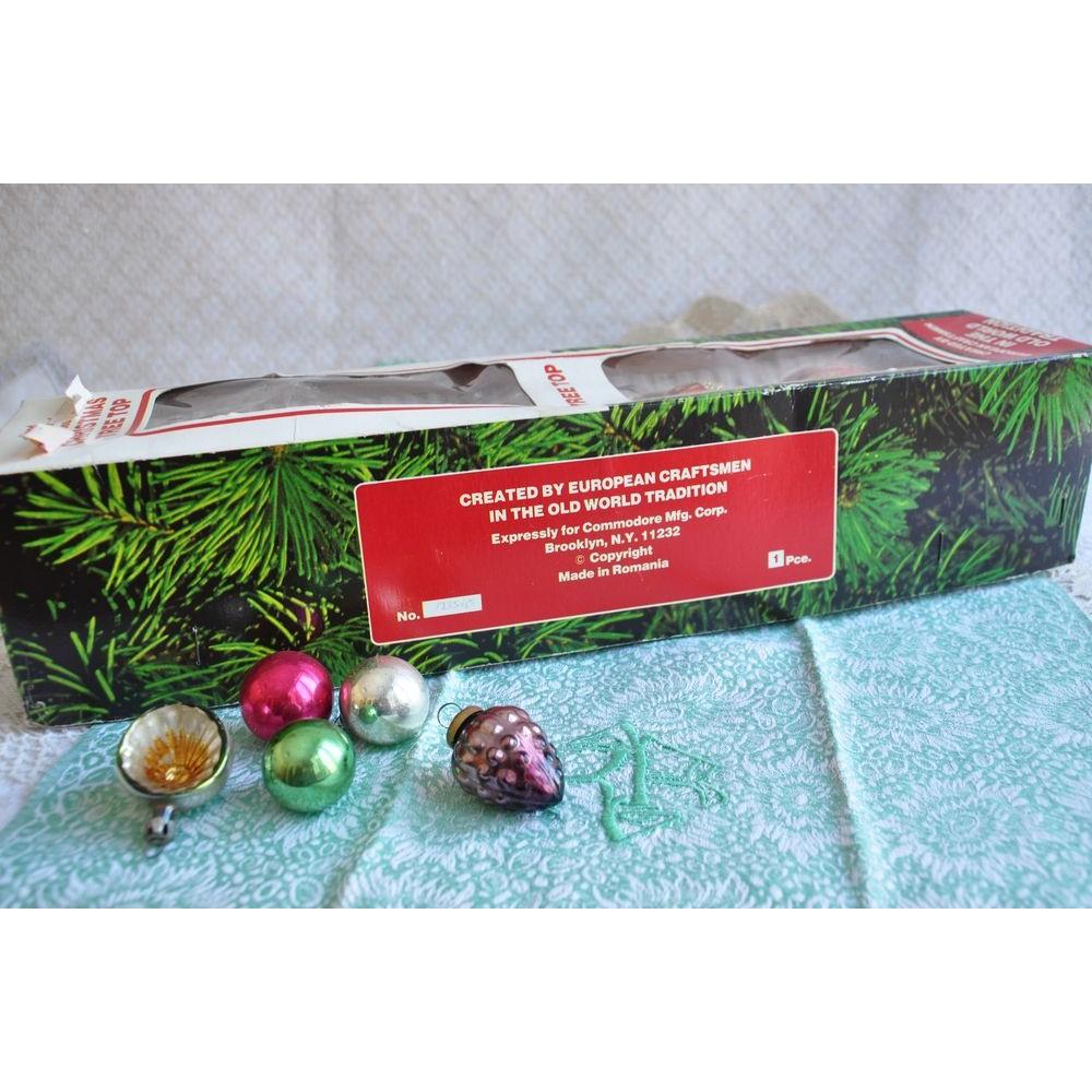 Flèche Cîmier Faîte Vintage Arbre Noël Verre Soufflé Grand pour Fleche Pour Sapin De Noel