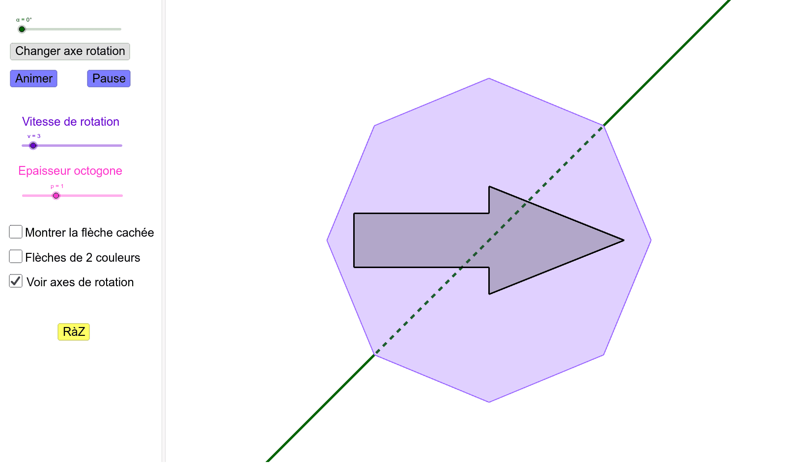 Flèche Magique - Symétrie Axiale – Geogebra destiné Symétrie Axial
