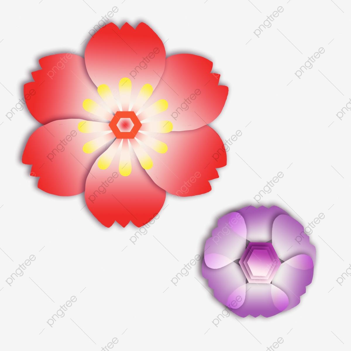 Fleur De Papier Découpé Coloré Beau Beau, Fleur, Fleur De destiné Fleurs À Découper
