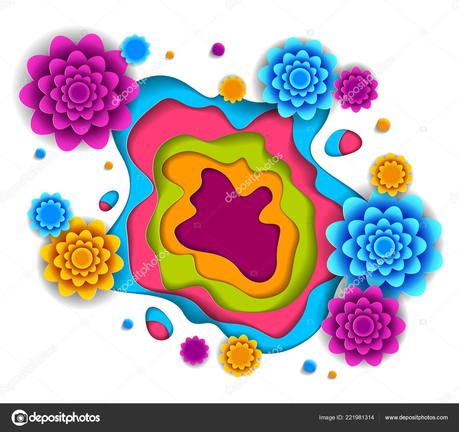 Fleurs Belles Conception Illustration Vectorielle Papier tout Fleurs À Découper