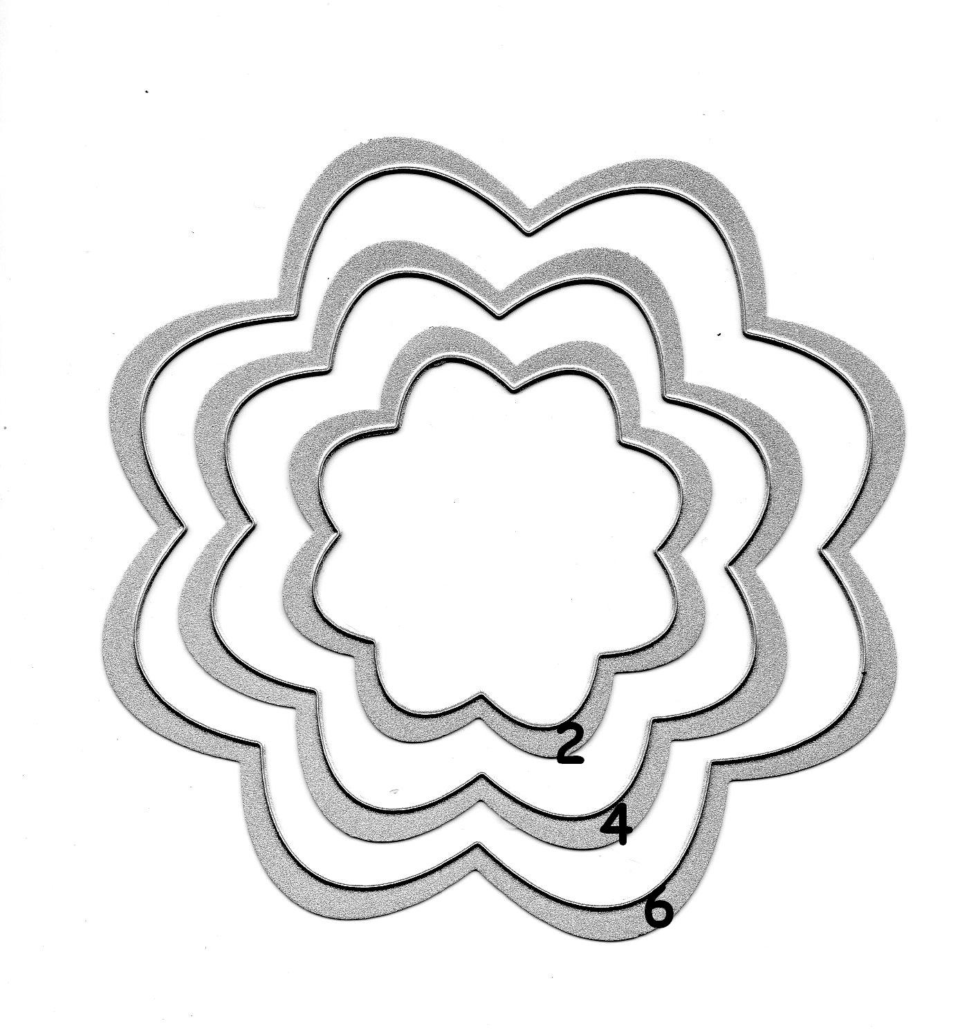 Fleurs En Volume - Le Tour De Mes Idées avec Fleurs À Découper