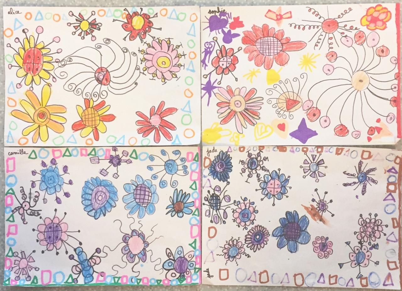 Fleurs Graphiques  - Enfants (Pas Si) Sages pour Activités Graphiques Gs