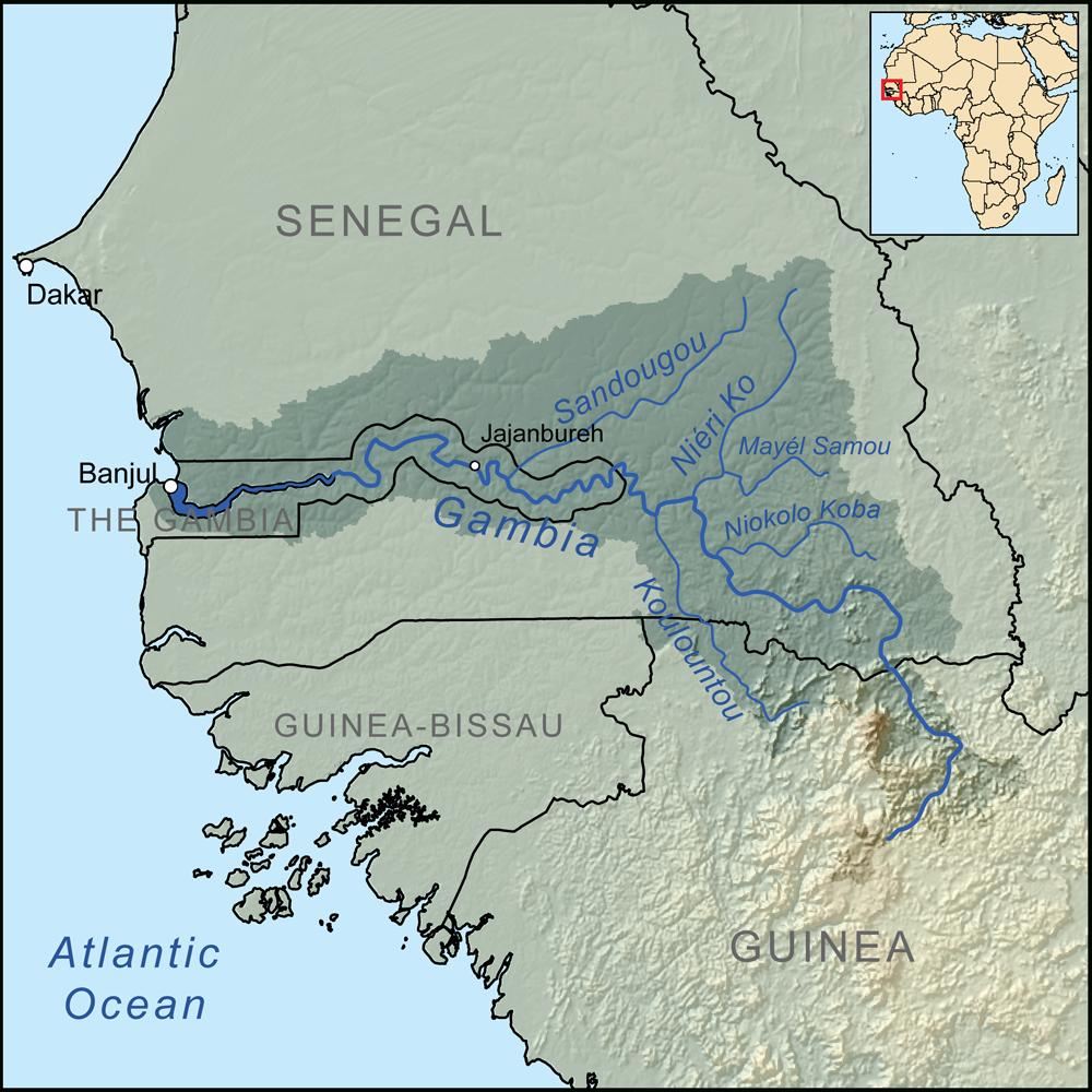 Fleuve Gambie • Carte • Populationdata concernant Carte Des Fleuves