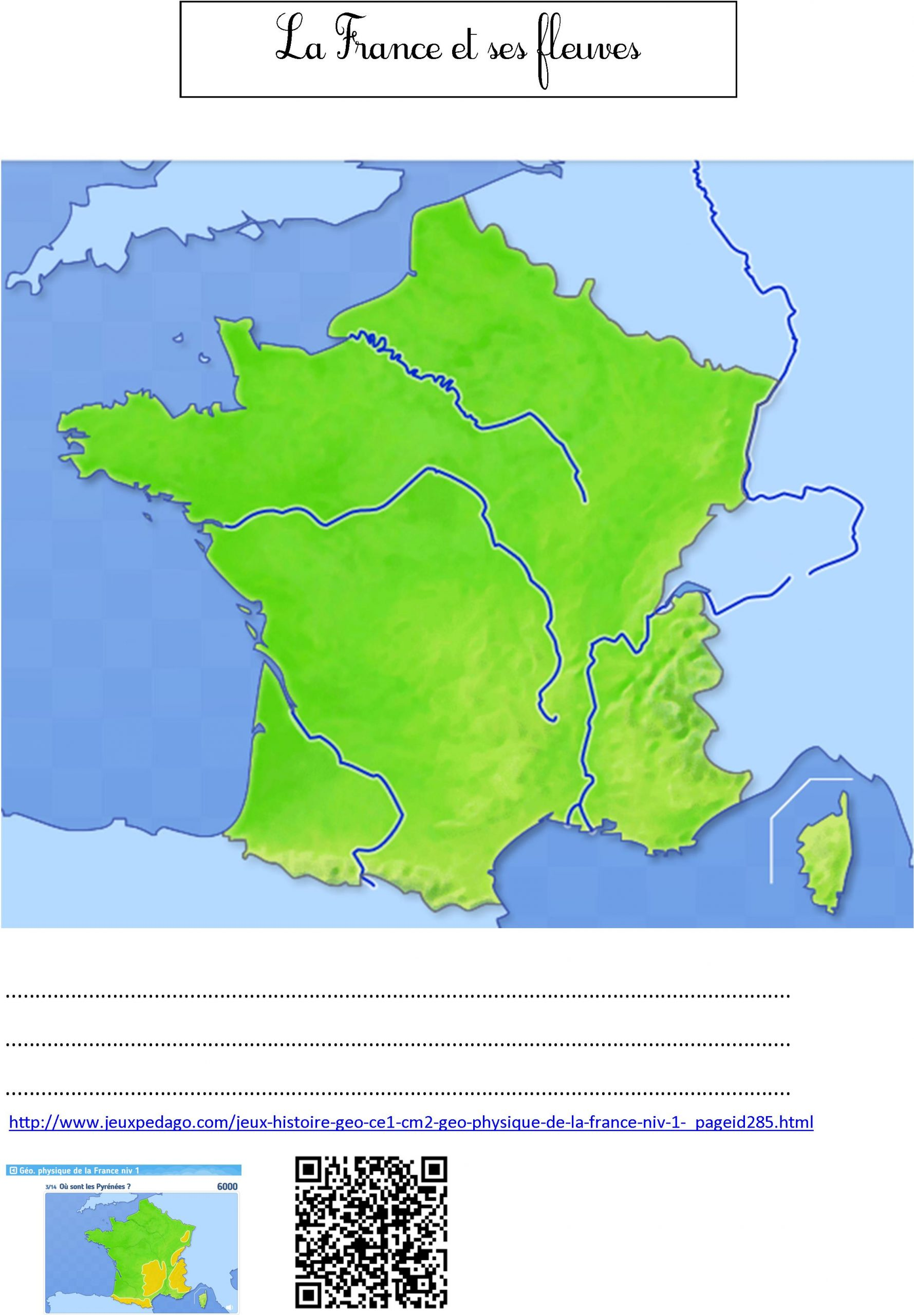 Fleuves De France   Le Blog De Monsieur Mathieu avec Carte De France Ce1