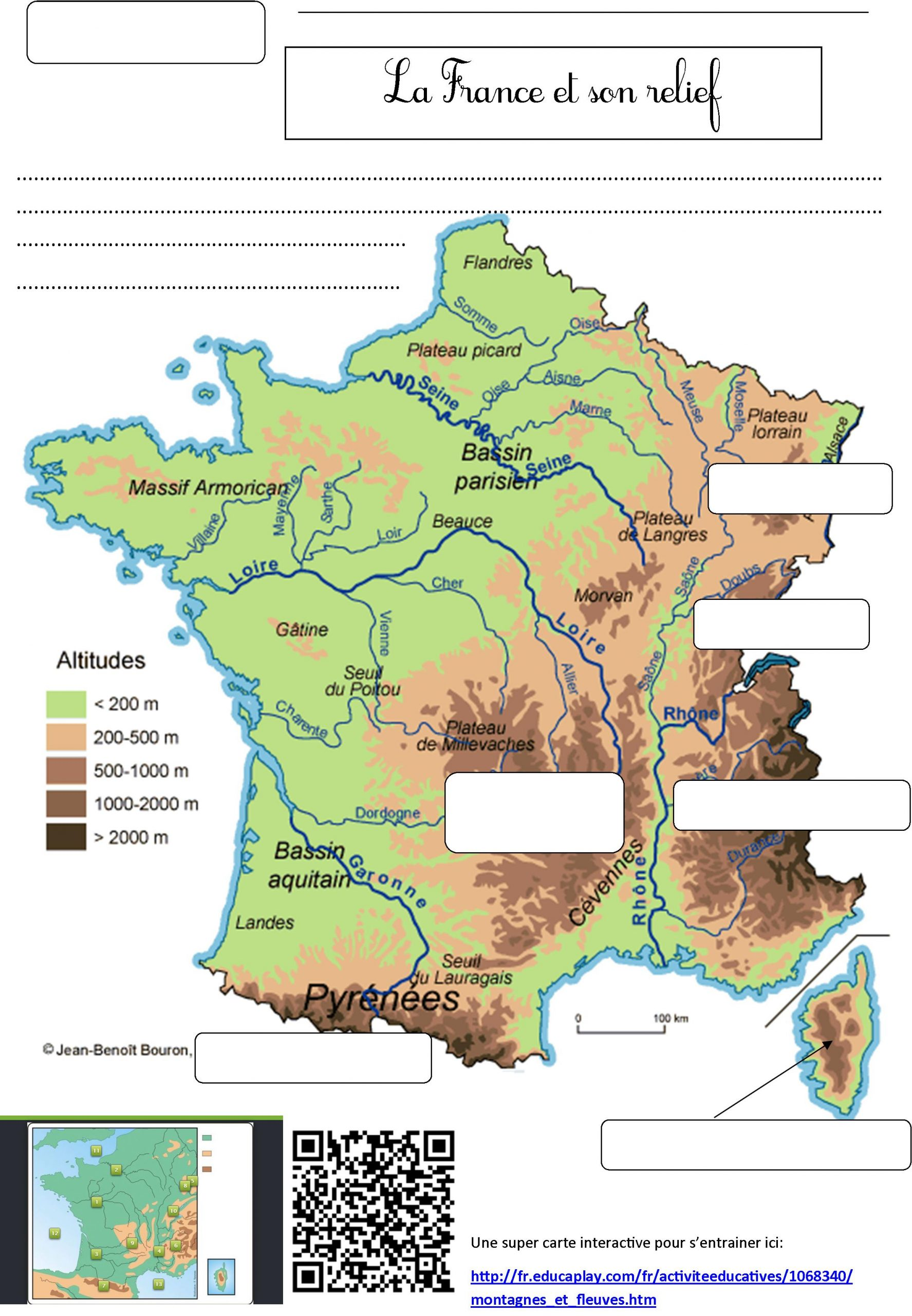 Fleuves De France   Le Blog De Monsieur Mathieu intérieur Carte De France Ce1