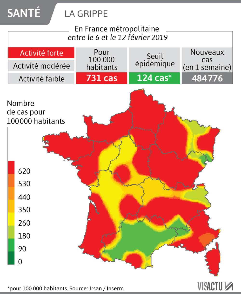 Flu Epidemic: 1800 Deaths This Winter In France, The Region encequiconcerne Combien Yat Il De Region En France