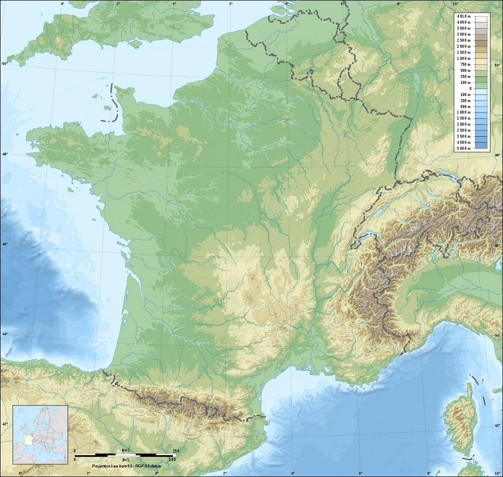 Fond De Carte De France Du Relief intérieur Fond De Carte France Fleuves