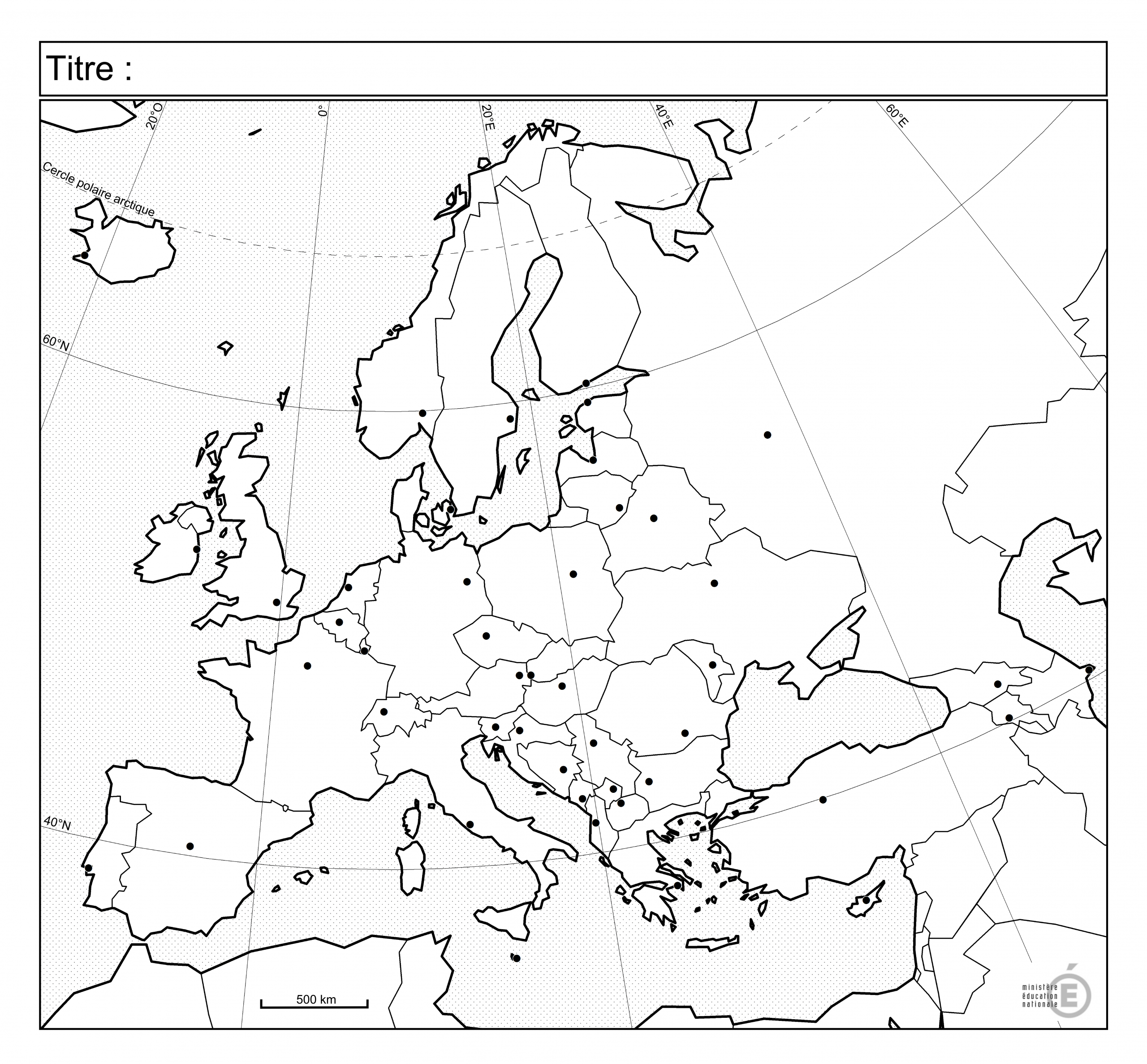 Fonds De Carte - Histoire-Géographie - Éduscol avec Carte Europe Vierge Cm1