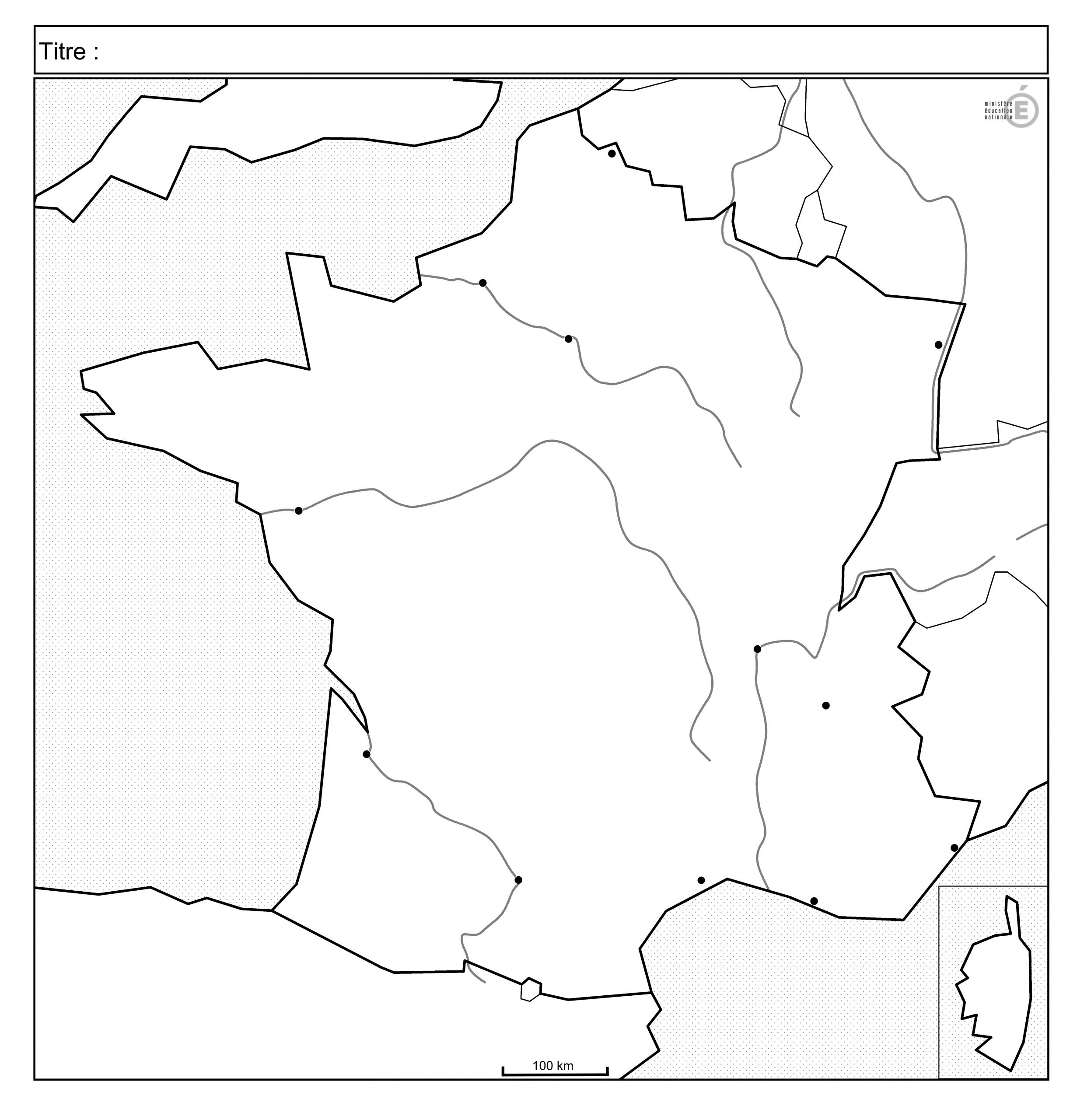 Fonds De Carte - Histoire-Géographie - Éduscol dedans Carte De France Avec Les Fleuves