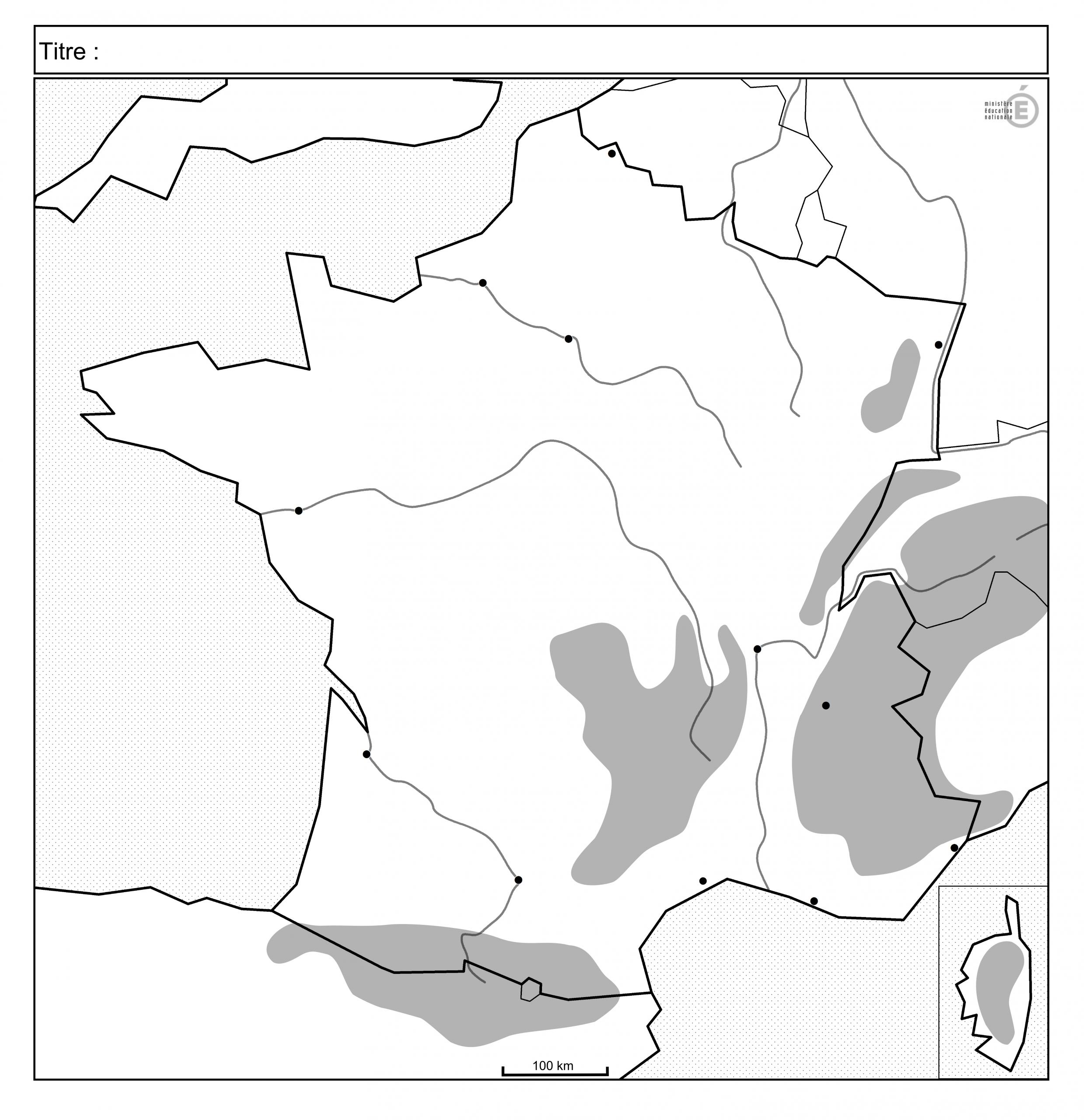 Fonds De Carte - Histoire-Géographie - Éduscol encequiconcerne Carte De France Avec Les Fleuves