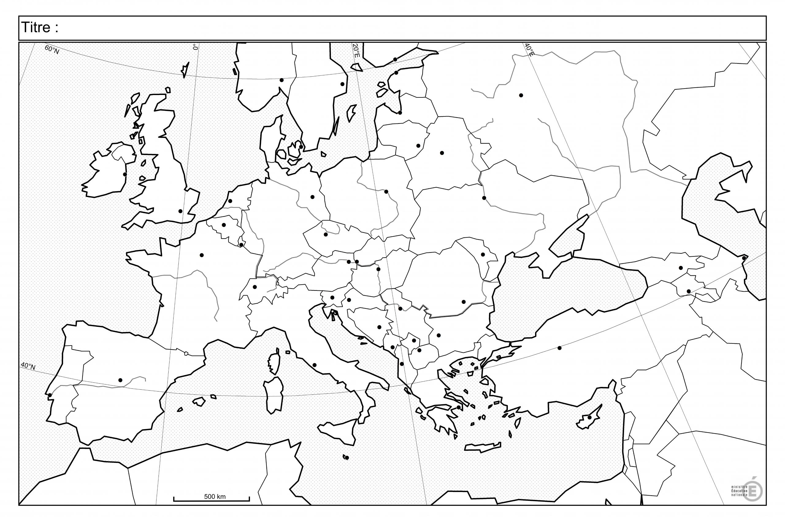 Fonds De Carte - Histoire-Géographie - Éduscol serapportantà Carte Fleuve Europe Vierge