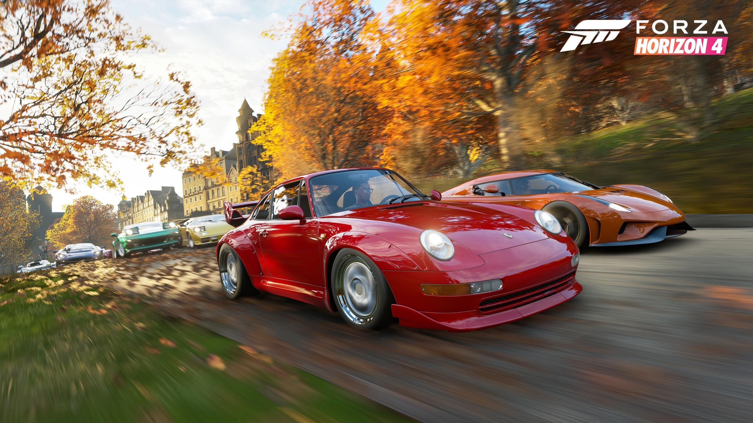 Fonds D'ecran 2560X1440 Porsche Forza Horizon 4 Regera E3 encequiconcerne Jeux De Voiture Rouge
