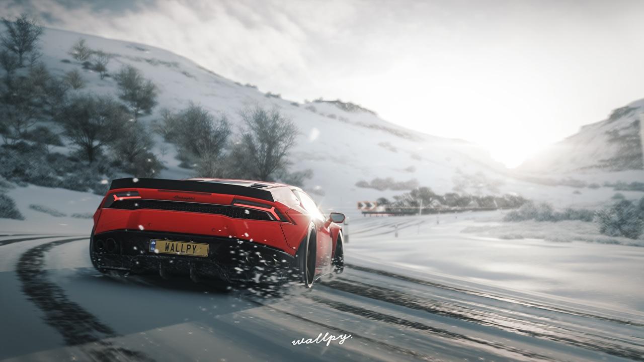 Fonds D'ecran Forza Horizon 4 Lamborghini Huracan By Wallpy avec Jeux De Voiture Rouge