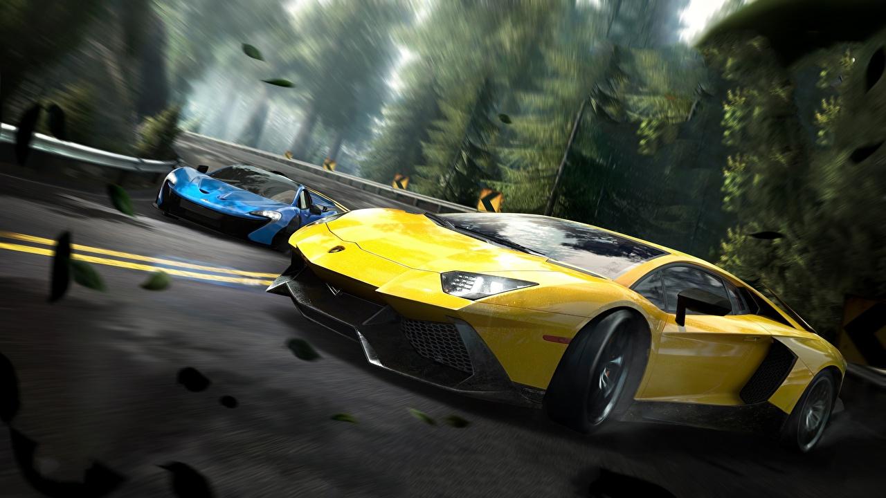 Fonds D'ecran Lamborghini Need For Speed Edge Aventador intérieur Le Jeu De La Voiture Jaune