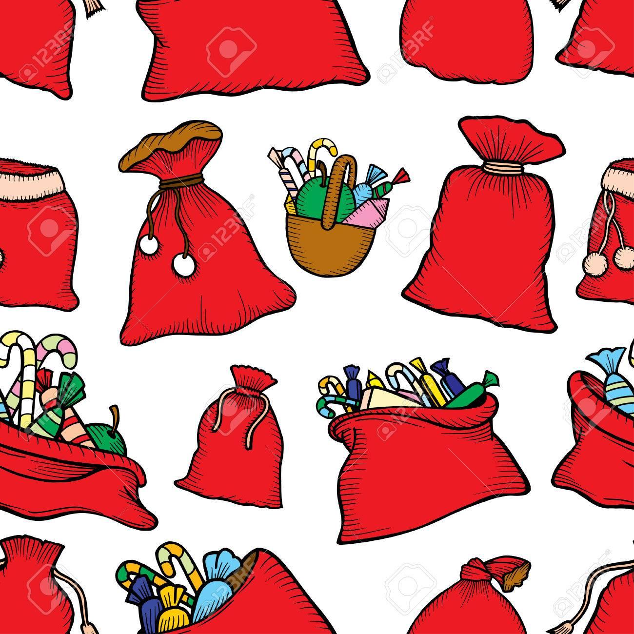 Forme Transparente Décorations De Noël Sacs Cadeaux Avec Des Bonbons.  Imprimer Pour La Nouvelle Année. Fond D'écran Vectoriel encequiconcerne Décorations De Noel À Imprimer
