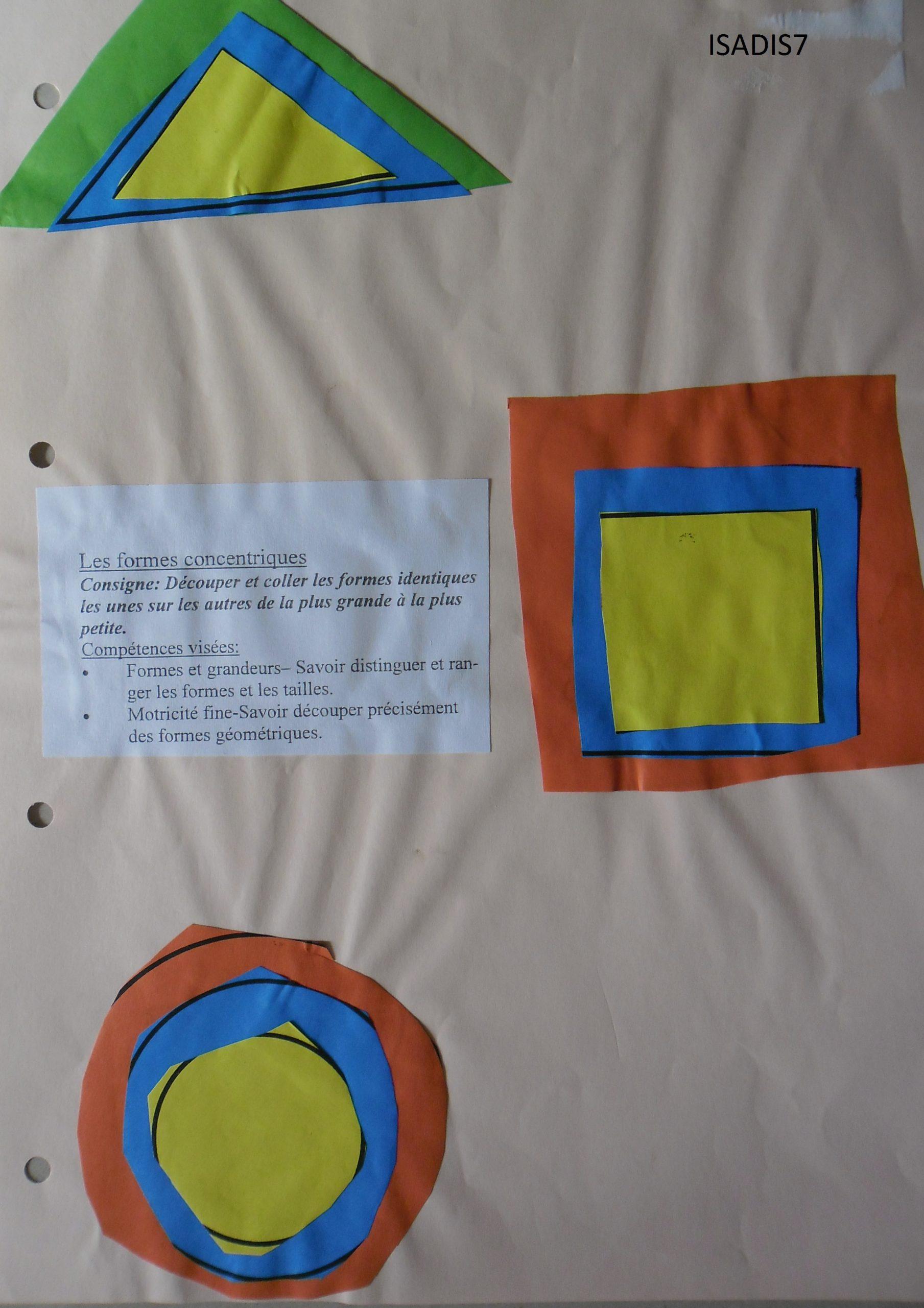 Formes Géométriques Et Découpage - La Maternelle D'isadis7 avec Formes À Découper Maternelle