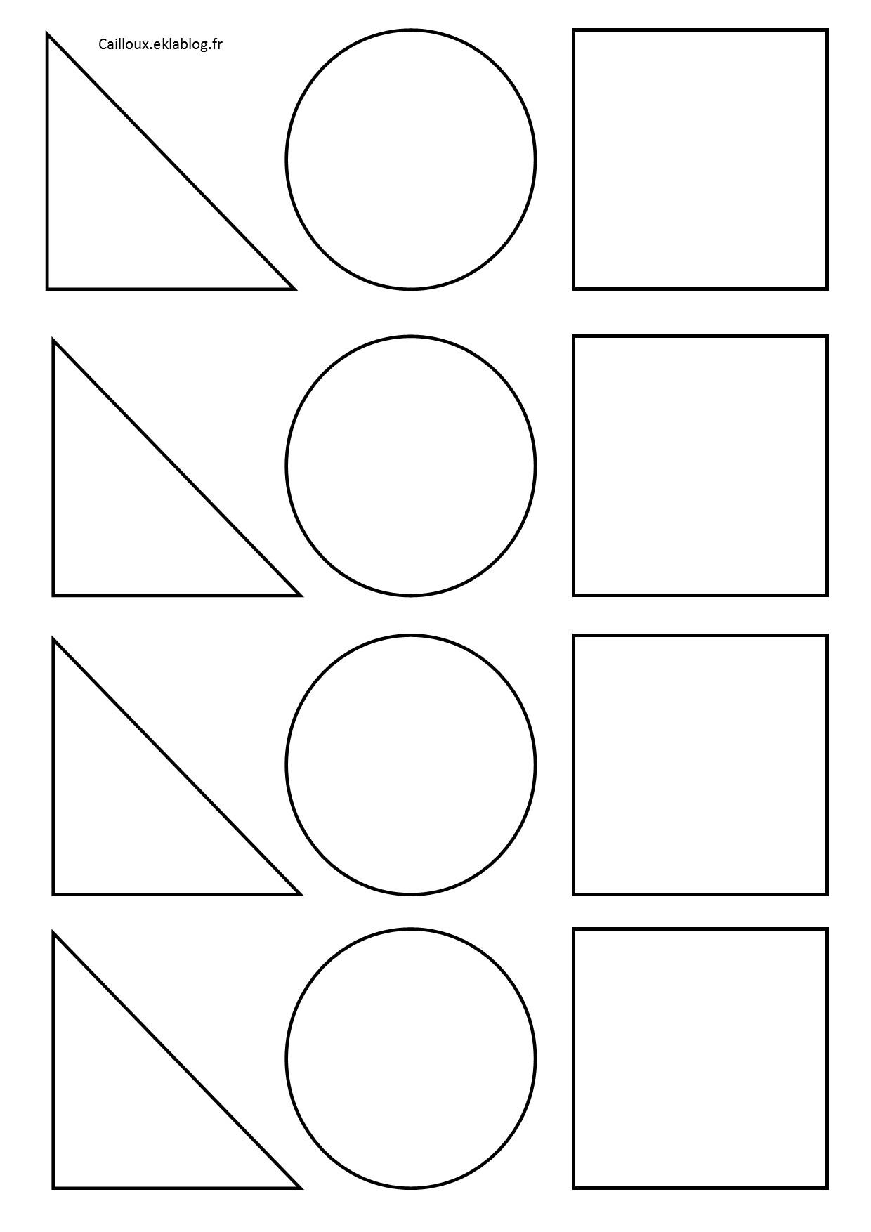 Formes Géométriques Et Découpage - La Maternelle D'isadis7 dedans Formes À Découper Maternelle