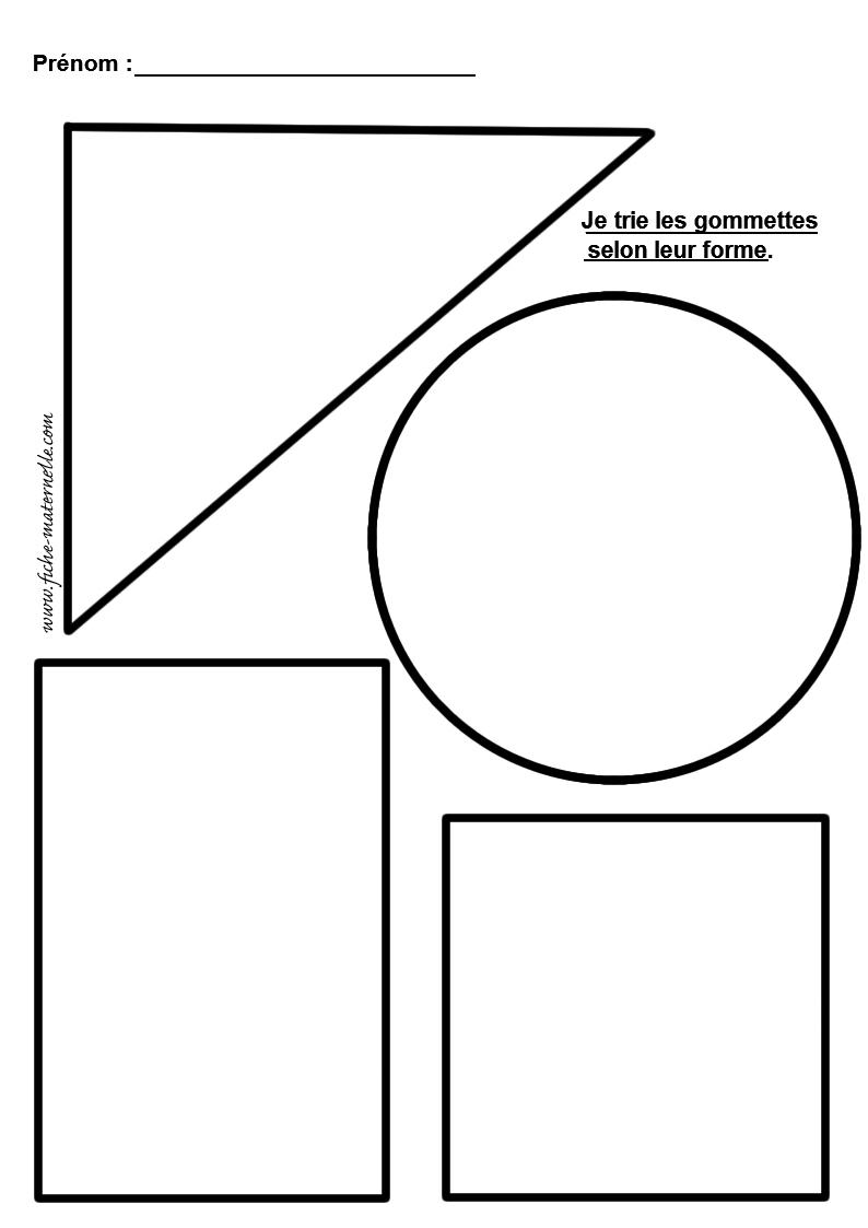 Formes Géométriques Maternelle À Découper intérieur Formes À Découper Maternelle