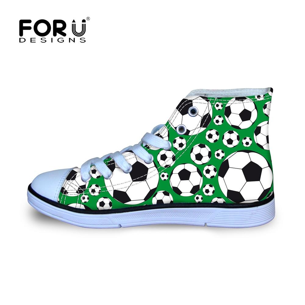 Forudesigns Çocuk Ayakkabıları Erkek Futbol Desen Baskı Tuval Çocuk  Sneakers Kızlar Spor Yürüyüş Ayakkabı Chaussures Enfant Garcon dedans But Foot Enfant