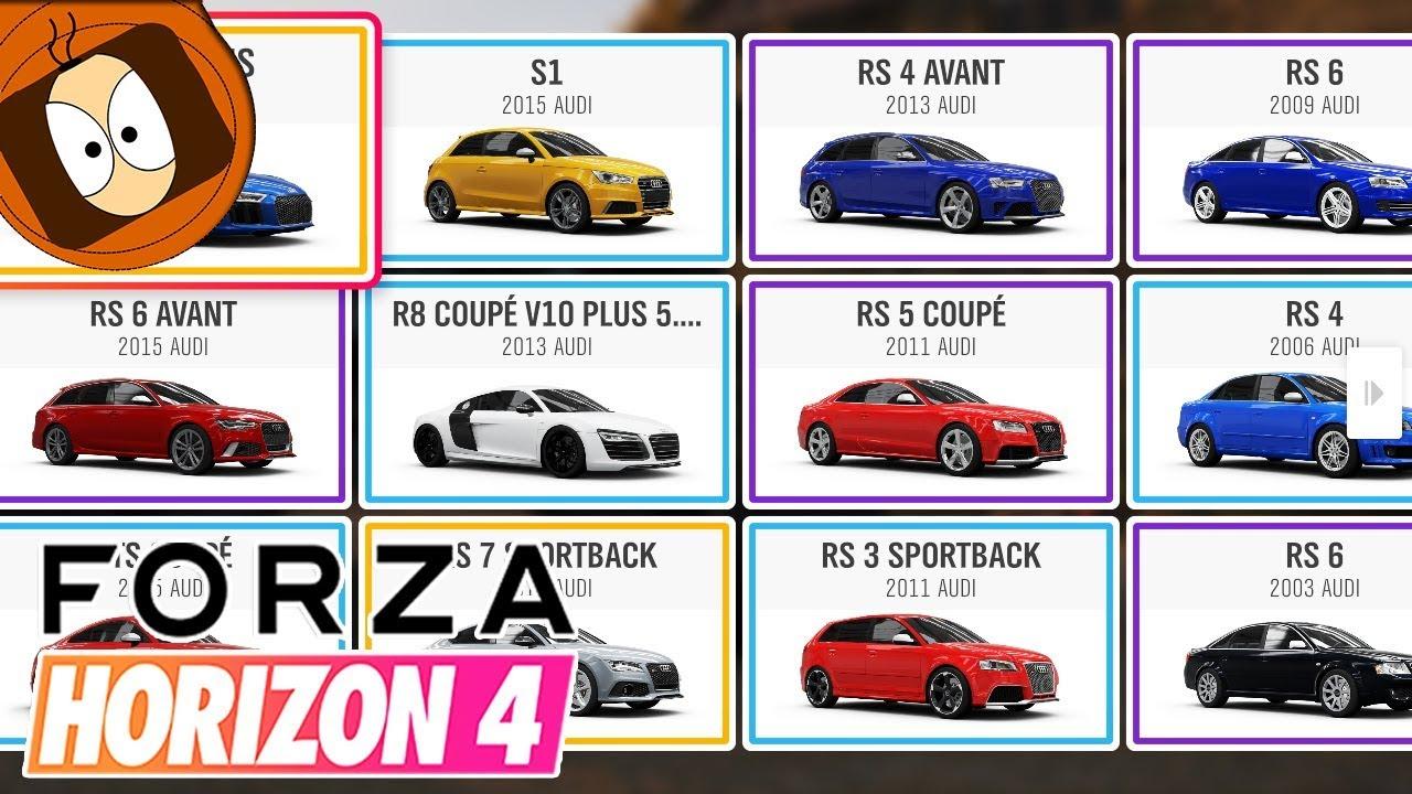 Forza Horizon 4 : Toutes Les Voitures Du Jeu + Dlc ! dedans Jeux De 4 4 Voiture