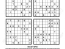 Four Sudoku Puzzles Of Comfortable (Easy, Yet Not Very Easy).. dedans Sudoku Facile Avec Solution