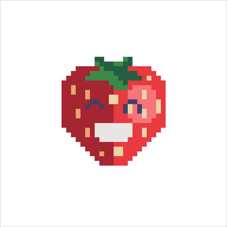 Fraise En Pixel Art pour Pixel Art Fraise