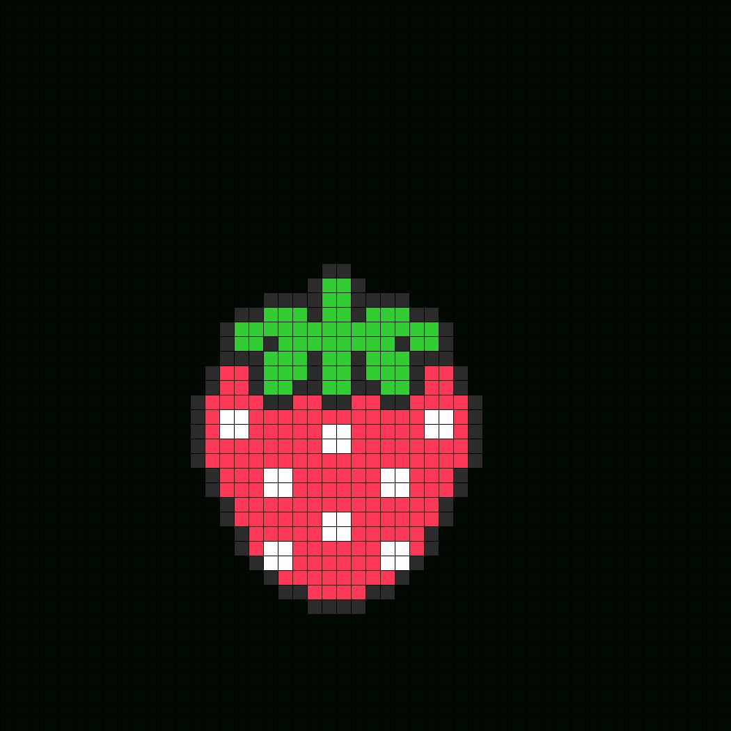 Fraise Fait | Perler Beads, Boncuk Desenleri Ve Hama Boncuk tout Pixel Art Fraise