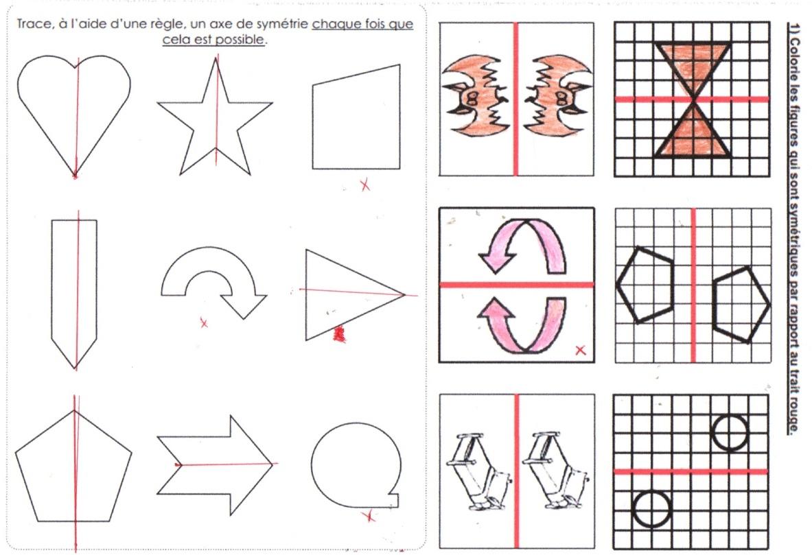 Francais Ce1 - Ecole À La Maison 40 avec Symétrie Ce1 Exercices