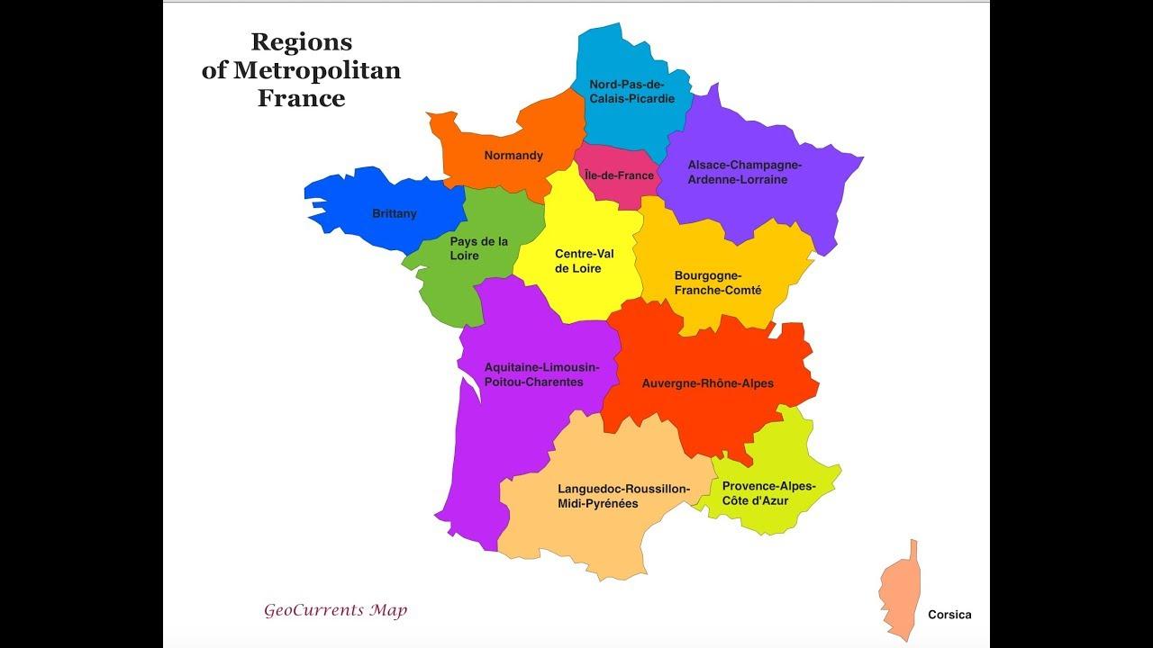 France Administrative Divisions- Régions Et Départements pour Les 22 Régions De France Métropolitaine