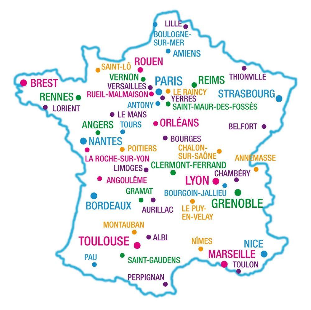 France-Carte-De-France-Et-Des-Principales-Villes-De-France serapportantà Carte France Principales Villes