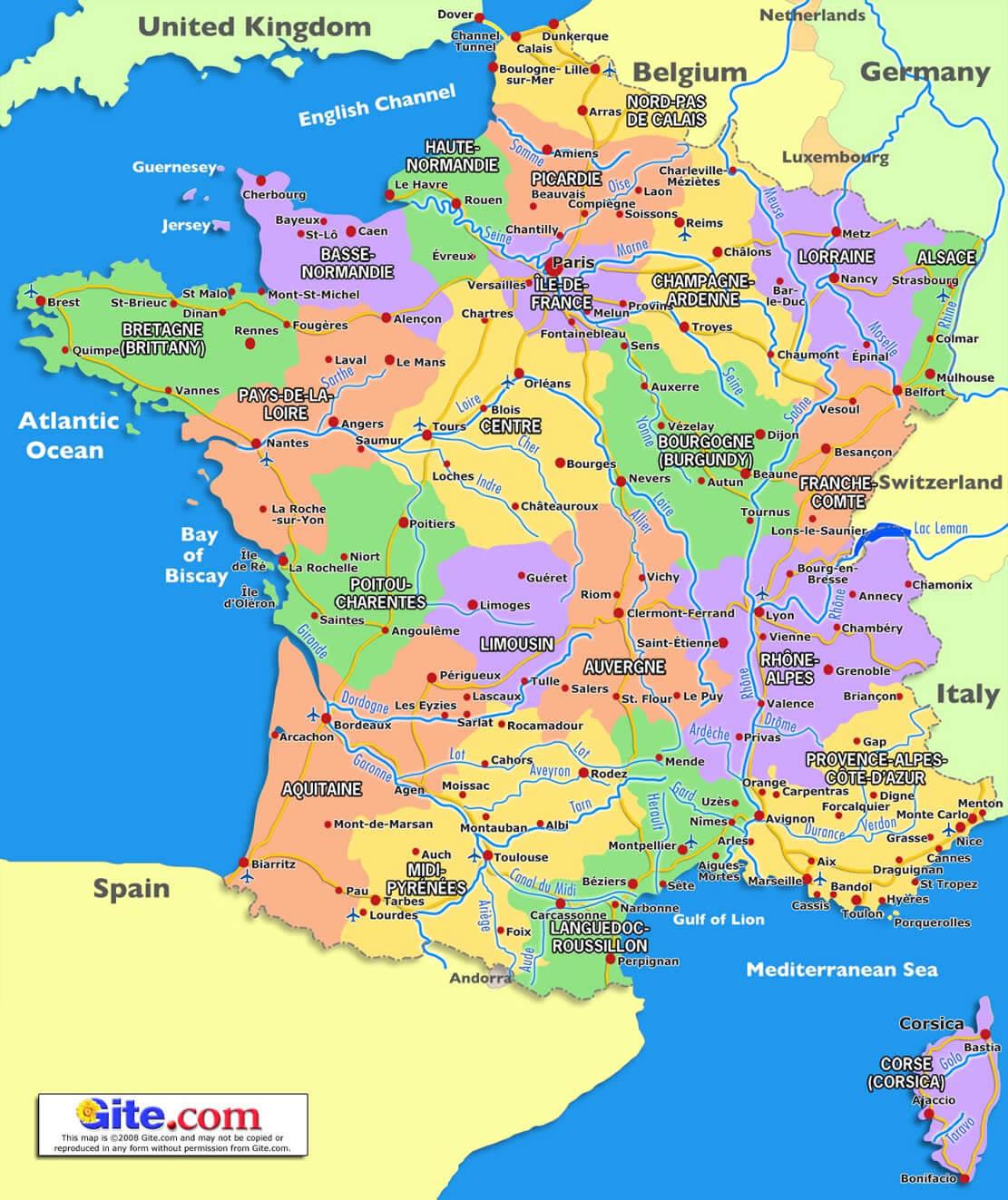France Carte dedans Gap Sur La Carte De France