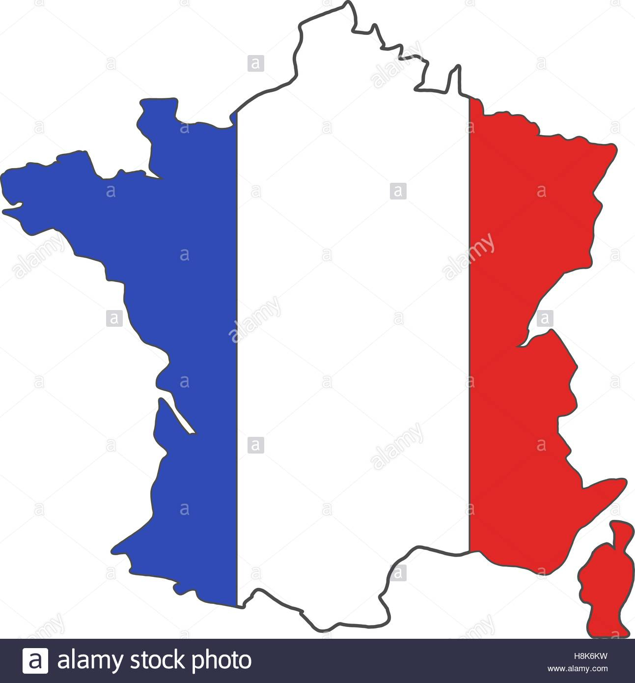 France Euro Championship 2016 Flag Design. Football à Dessin De Carte De France