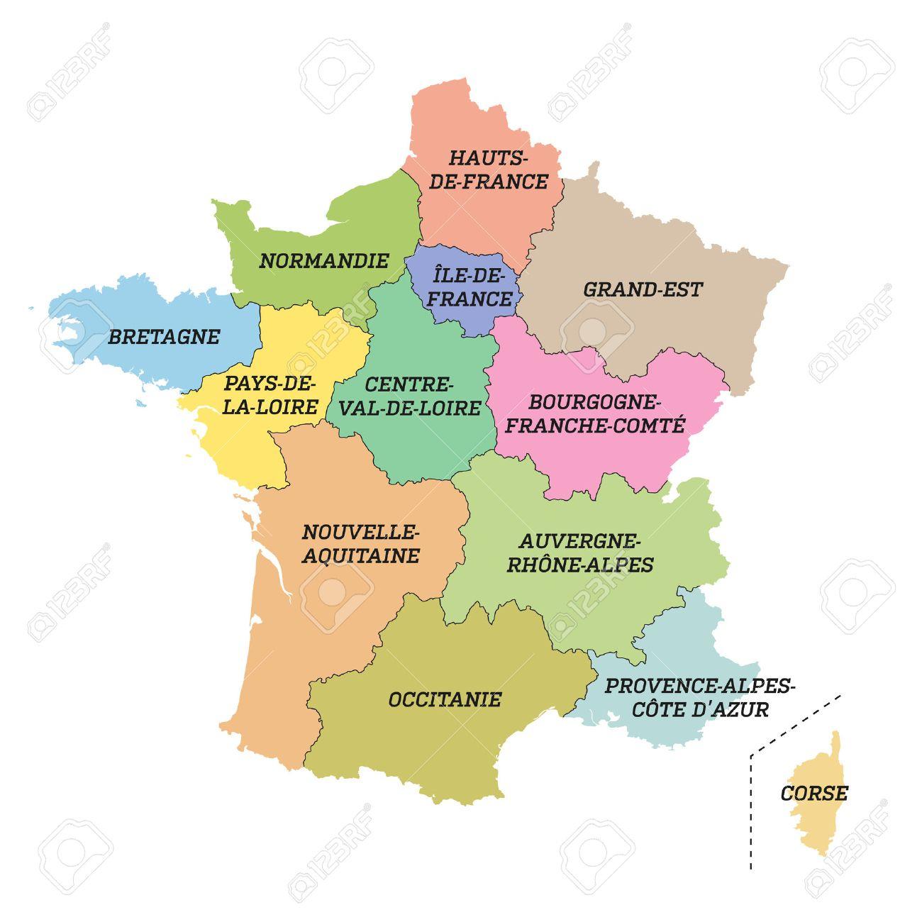 France Metropolitan Map With New Regions dedans Map De France Regions