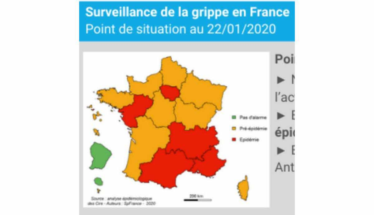 France - Monde | Grippe : Cinq Régions, Dont Auvergne-Rhône dedans Les 22 Régions De France Métropolitaine