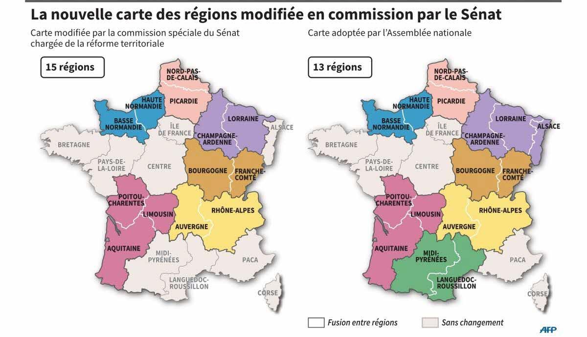 France - Monde | La Carte Des Régions De Nouveau Au Découpage serapportantà Le Nouveau Découpage Des Régions