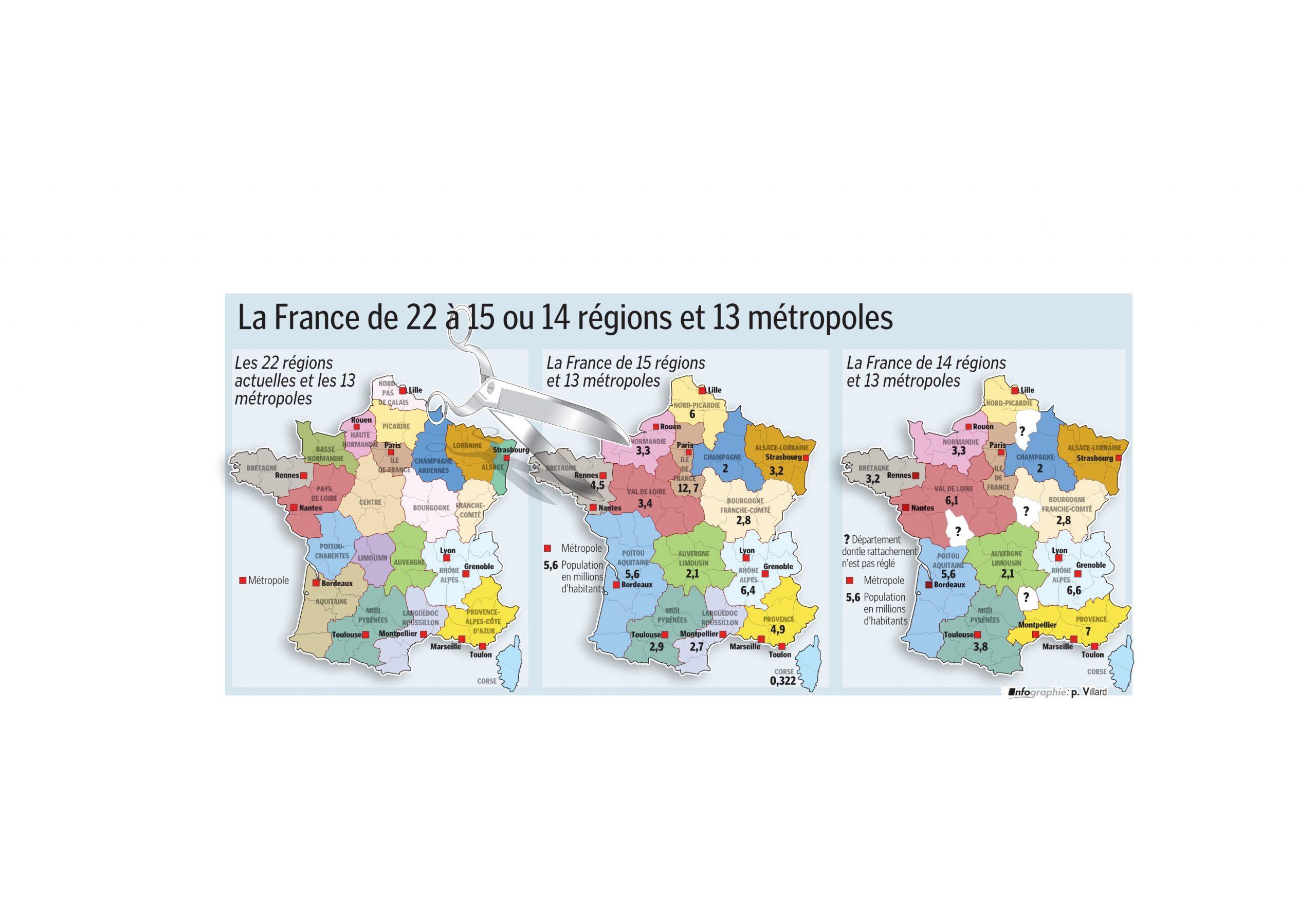 France - Monde | Vidéo. Nouvelle Carte Des Régions Et tout Carte Des 22 Régions