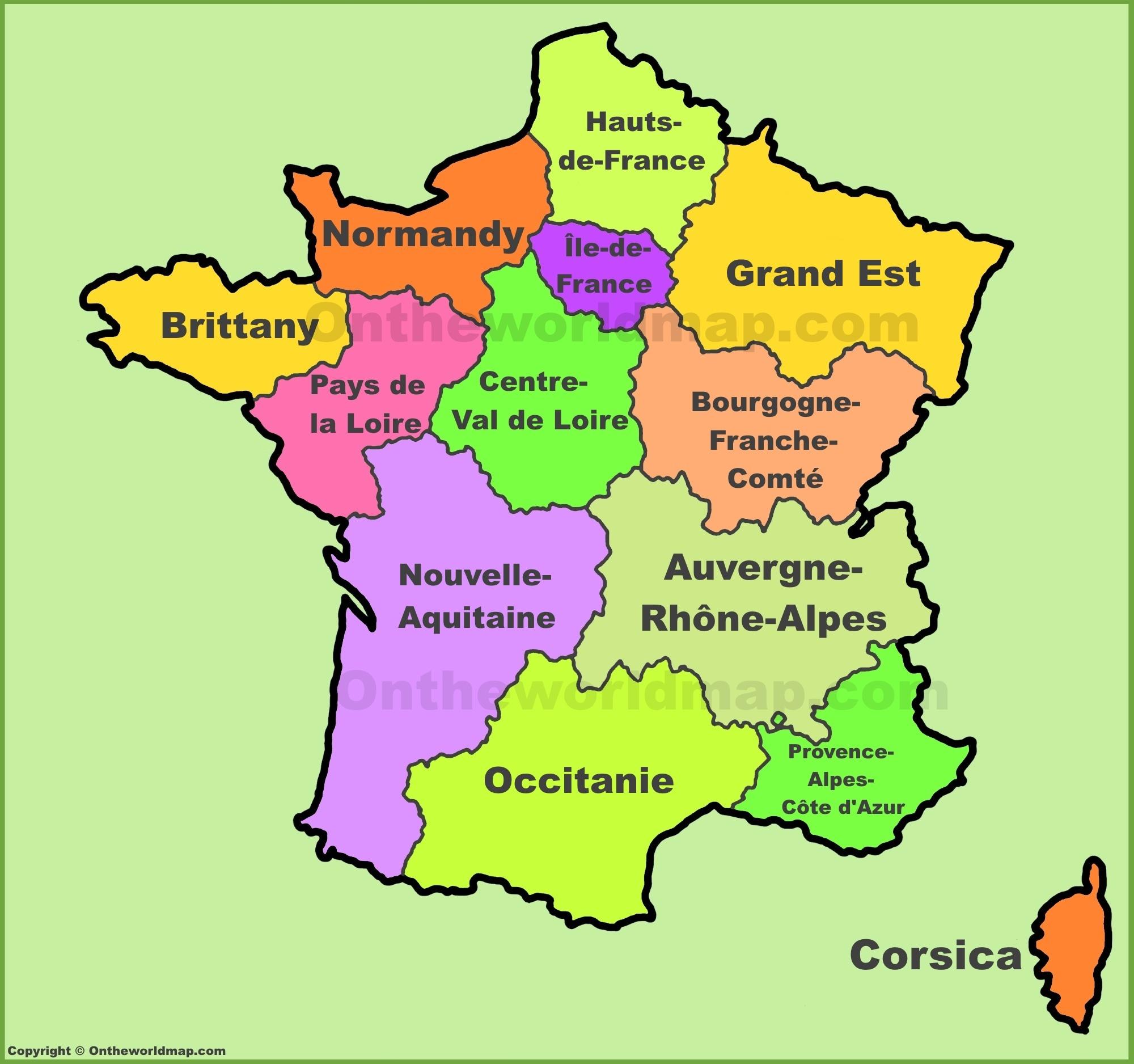 France Regions Map | New Regions Of France tout Map De France Regions