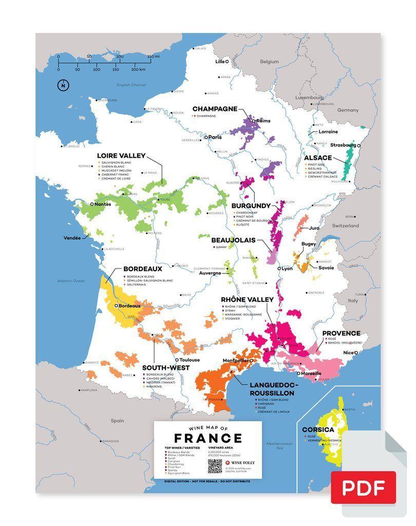 France Wine Map | Wine Folly, French Wine Regions, Italian Wine intérieur Map De France Regions