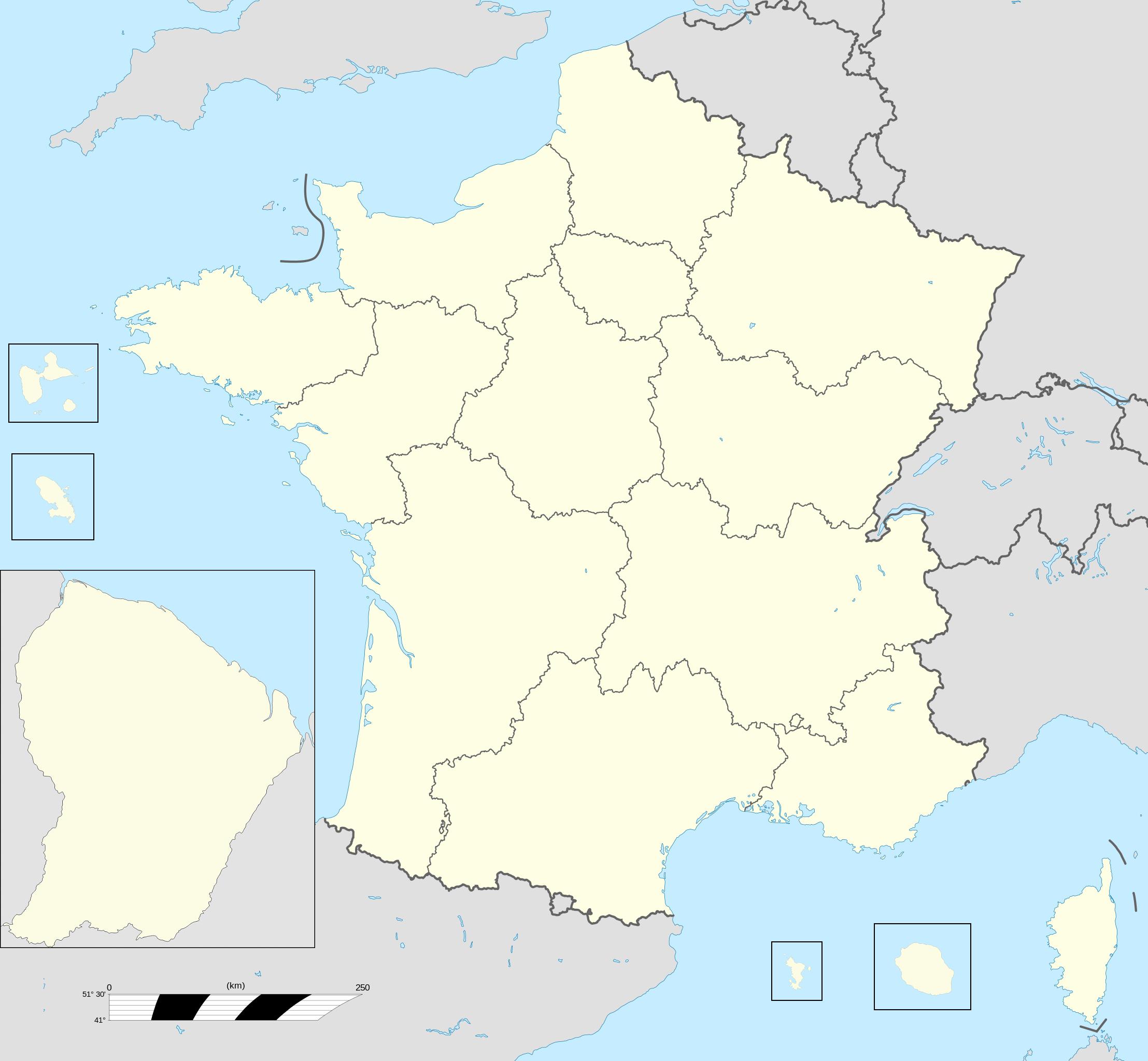 Fransa'nın Bölgeleri - Vikipedi encequiconcerne Carte Des 22 Régions