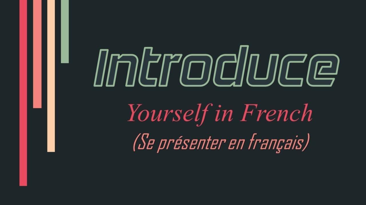 Fransızca Kendini Tanıtma Yazısı - Kendini Tanıtma Cümleleri destiné Departement Francais 39