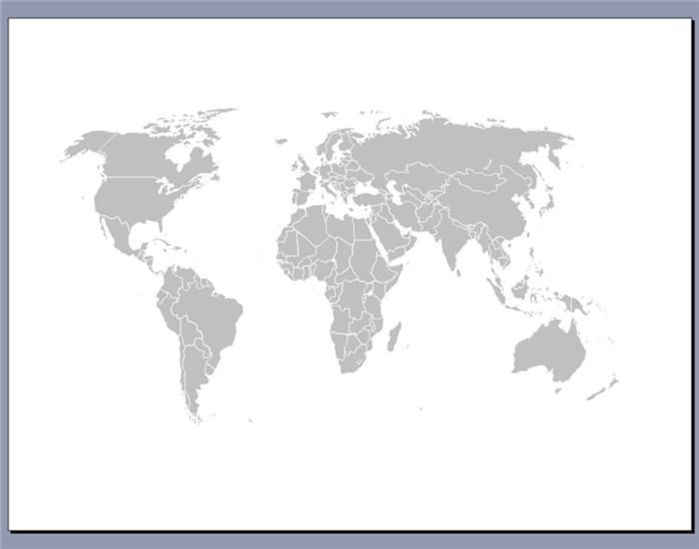 Free Editable Worldmap For Powerpoint Slides - Télécharger encequiconcerne Carte Du Monde À Compléter En Ligne
