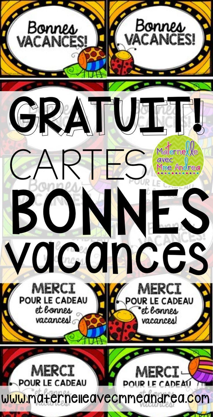 Free French Cards For The End Of The Year - Bonnes Vacances dedans Images Bonnes Vacances Gratuites