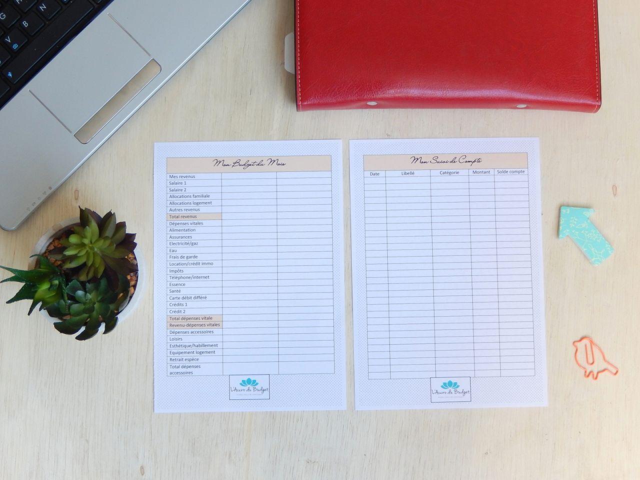 Free Printable Planner: Tout Pour Faire Ses Comptes | Faire avec Imprimer Un Livre Gratuitement