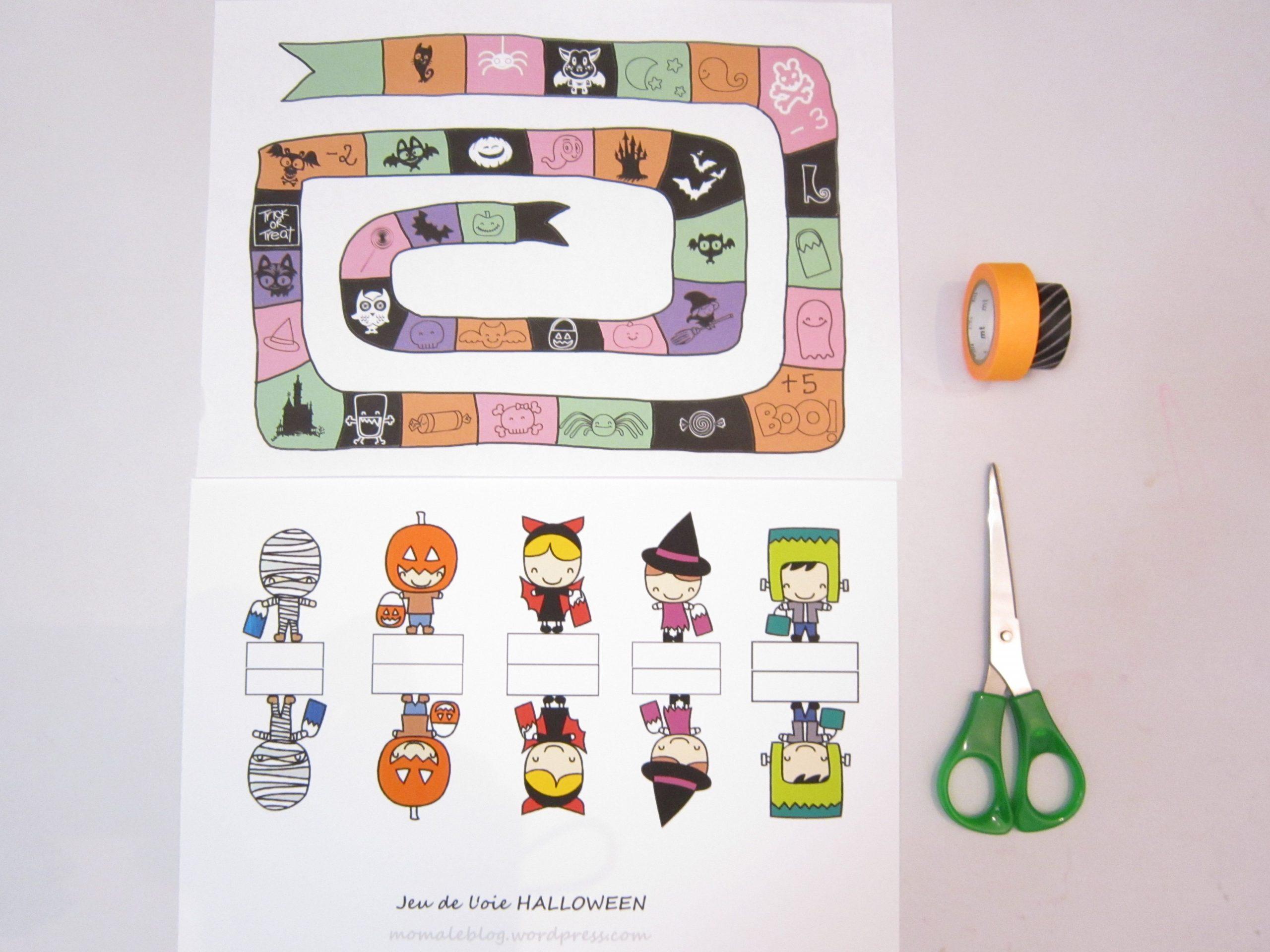 Free Printable} Un Jeu De L'oie Halloween! | Jeux De L'oie tout Jeu De L Oie A Imprimer