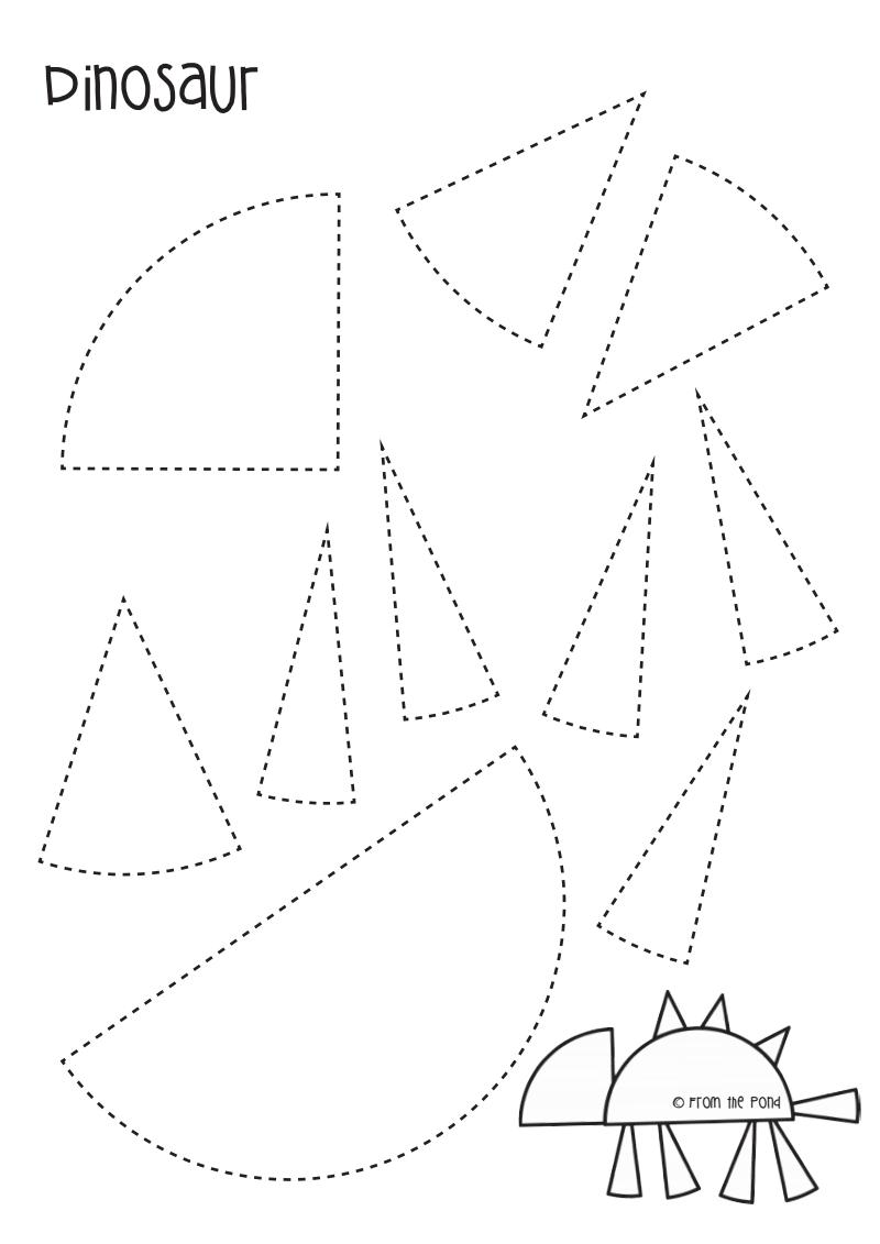 Freebie Dinosaur Paper Circle Craft.pdf | Dinosaure à Formes À Découper Maternelle