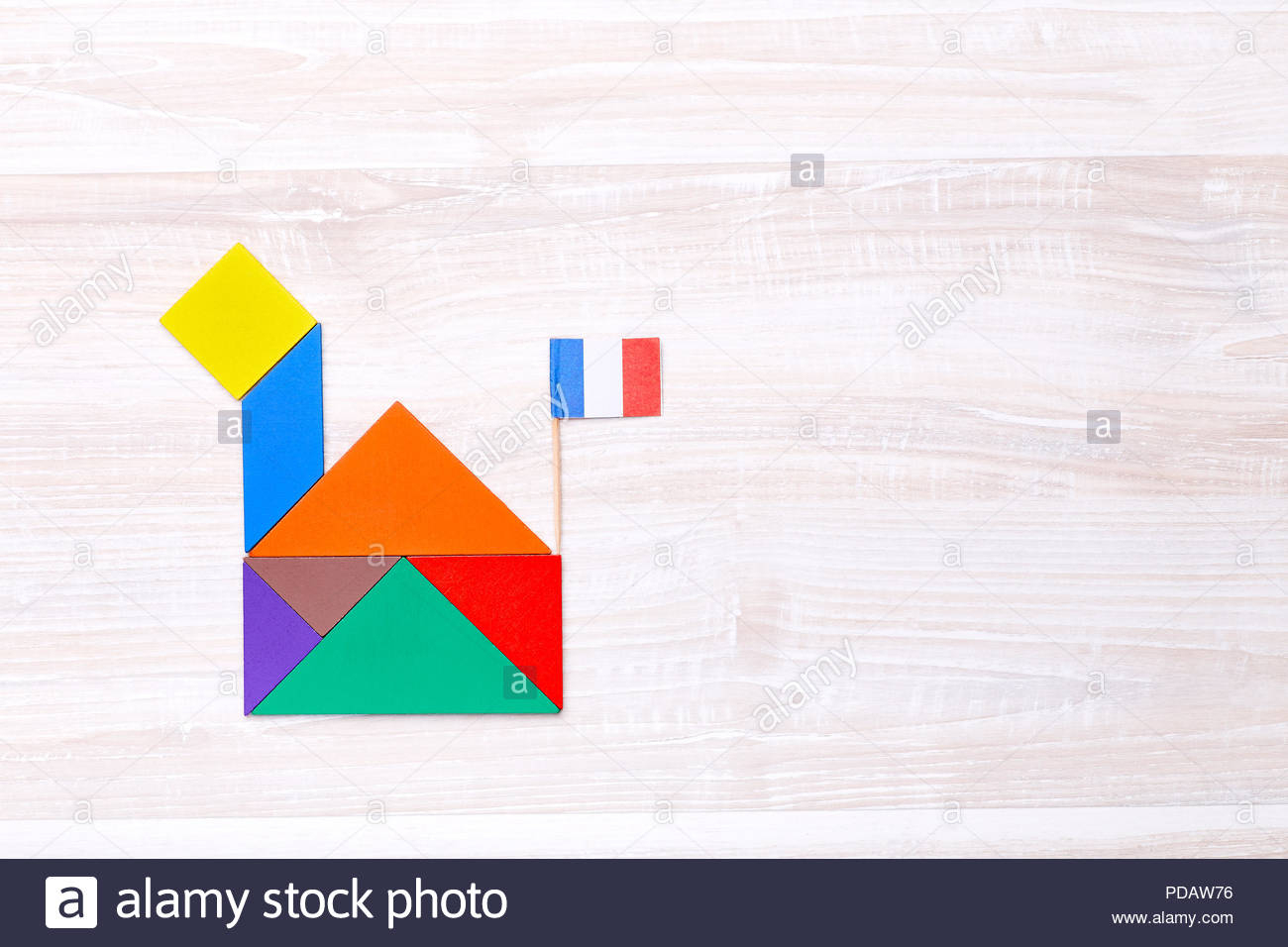 French Compose Stock Photos & French Compose Stock Images destiné Tangram Grande Section