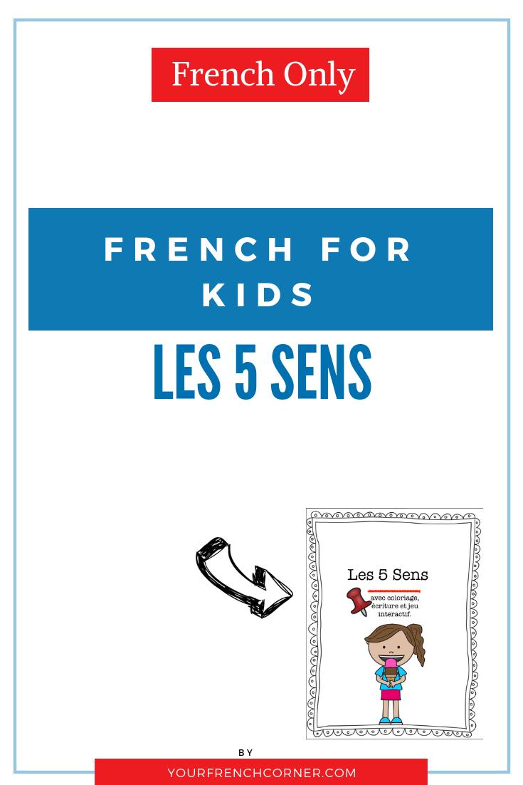 French For Kids: Les 5 Sens tout Jeu Des Cinq Sens