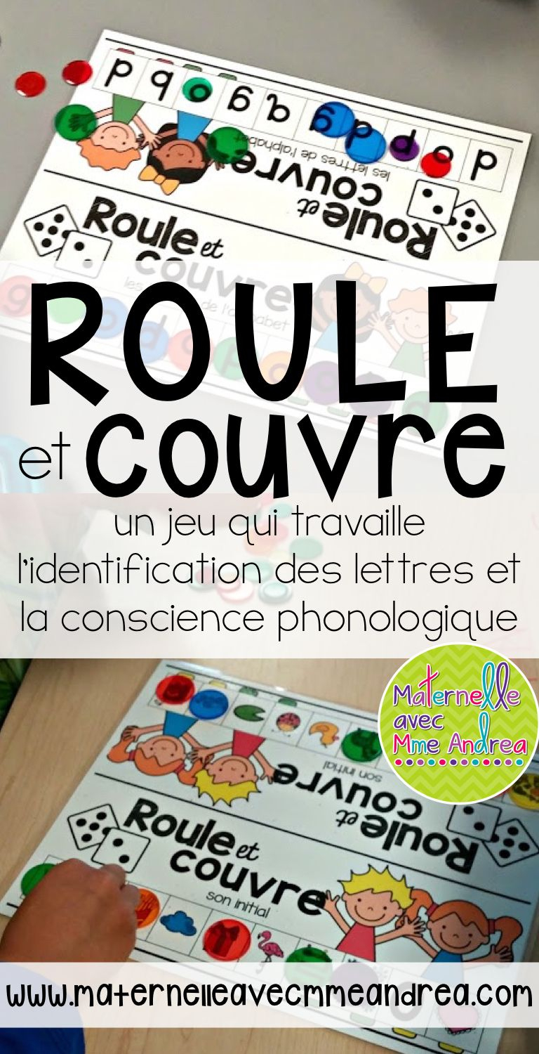 French Phonological Awareness Literacy Roll & Cover Game serapportantà Apprendre Les Lettres En Jouant