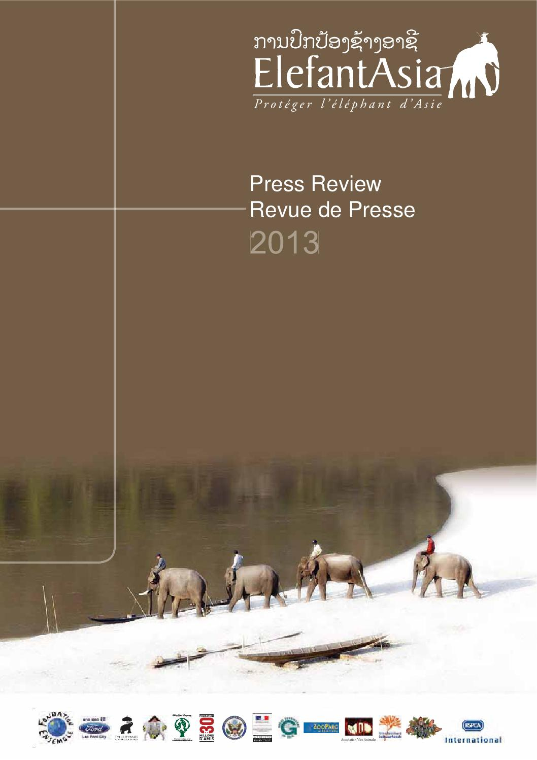 Full Press Review 2013 By Sebastien Duffillot - Issuu dedans Barrissement Elephant