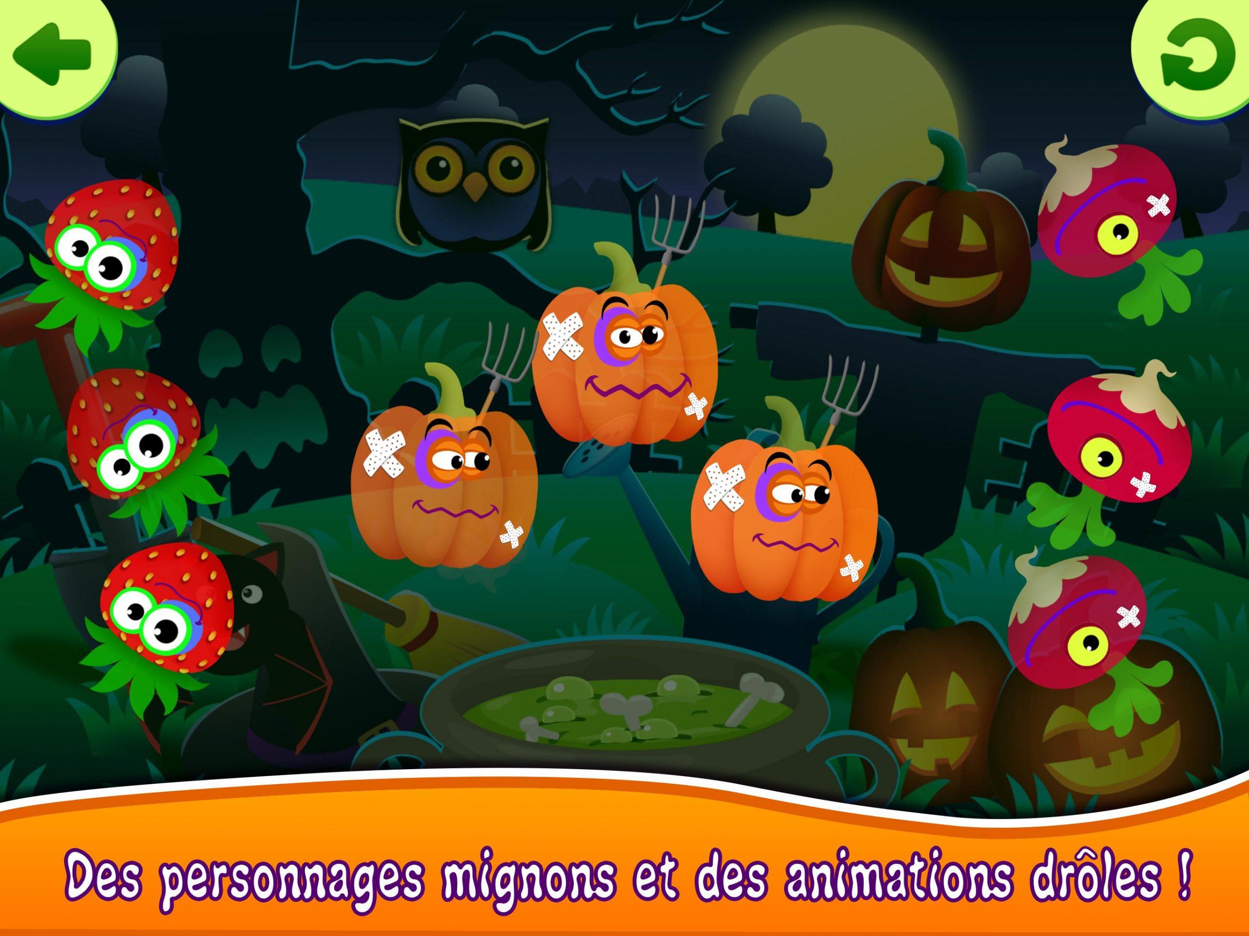 Funny Food! Jeux Educatif Pour Enfants Gratuit 2 3 Pour intérieur Jeux De Personnage Gratuit